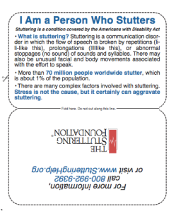 Stuttering Card